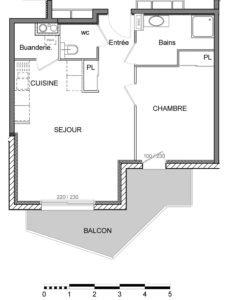 T2 | 45 m2 + 8.5 m2 extérieur