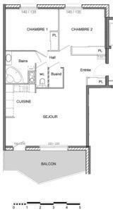 T3 | 68 m2 + 11.50 m2 extérieur