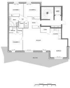 T5   119 m2 + 36 m2 extérieur