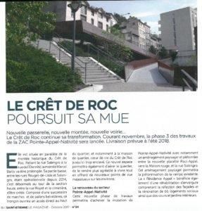 Résidence l'Ilôt-Villas dans le quartier du Crêt de Roc