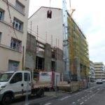 élévation de la maçonnerie du 2éme étage vue de la rue