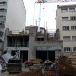 élévation de la maçonnerie du 2éme étage