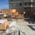 élévation de la maçonnerie en briques