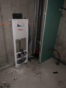 structure pour wc suspendu