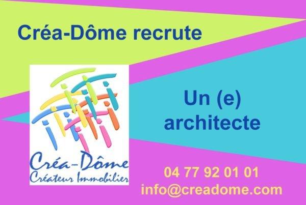 Créa-Dôme recrute un(e) architecte