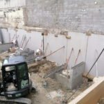 élévation de la maçonnerie du sous-sol
